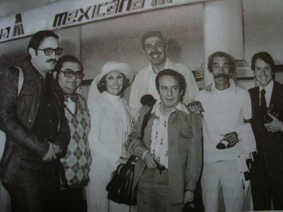 El elenco de Chespirito durante una gira por Latinoamérica