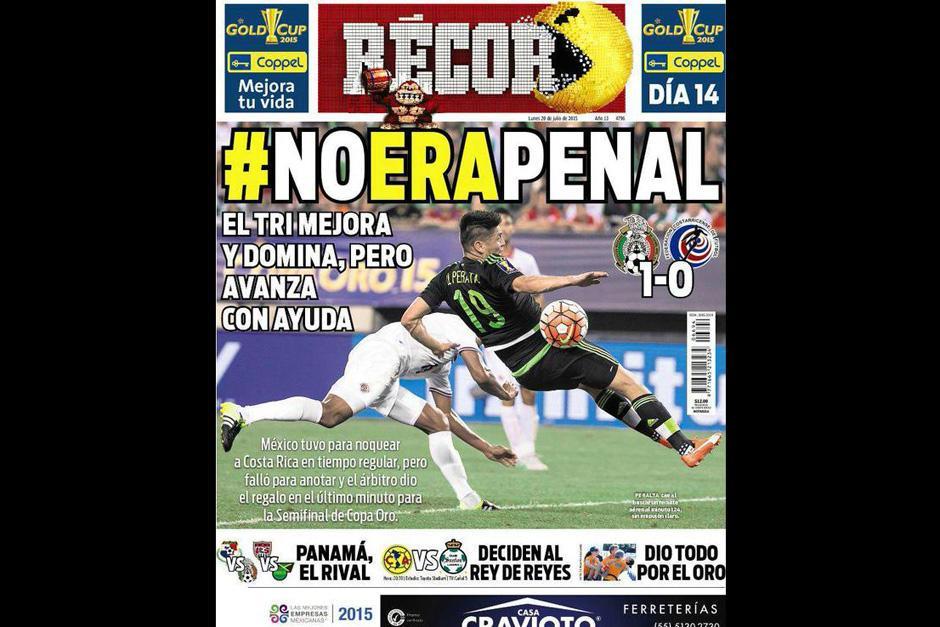 """El diario deportivo mexicano """"Récord"""" y su polémica portada"""