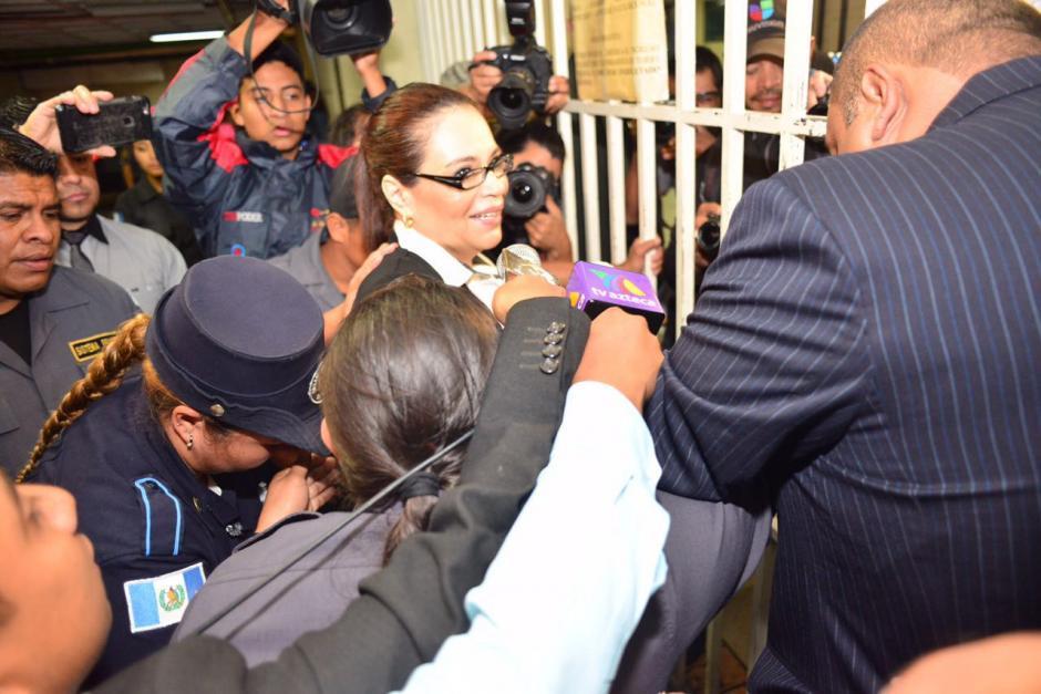 Exvicepresidenta Roxana Baldetti llega a Torre de Tribunales por caso Cooptación del Estado. (Foto: Jesús Alfonso/Soy502)
