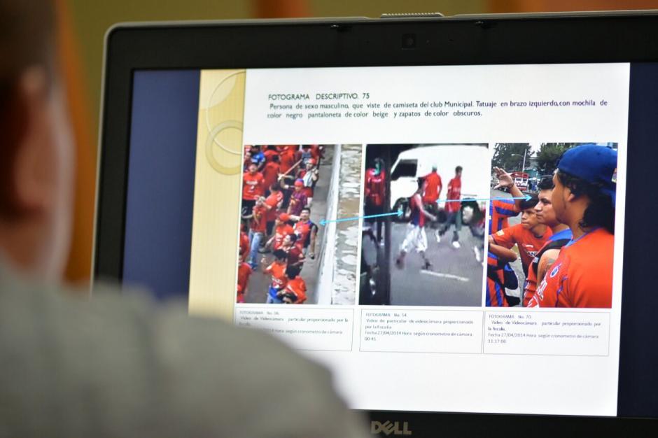 En el juicio se presentaron varios fotogramas de lo ocurrido en las afueras del estadio. (Foto: Wilder López/Soy502)