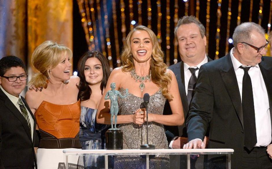 Sofia Vergara, agradeció en nombre del elenco Modern Family.