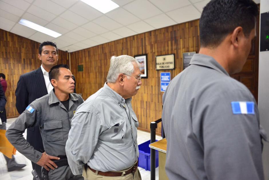 El exministro de Agricultura, Edín Barrientos llega al quinto día de audiencia de primera declaración. (Foto: Jesús Alfonso/Soy502)