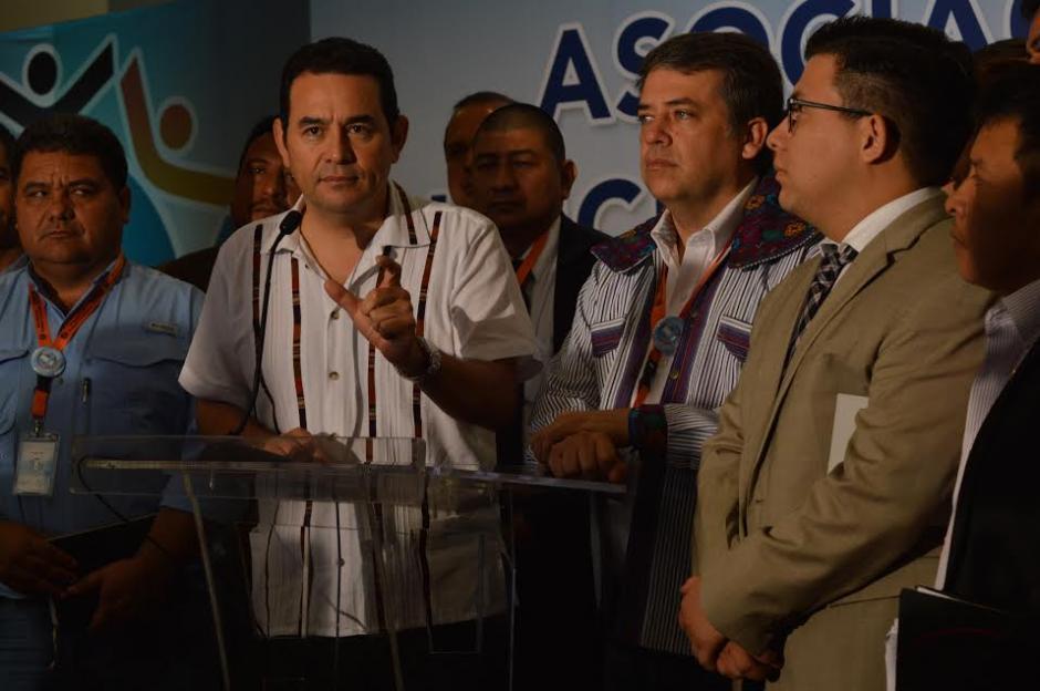 El presidente Jimmy Morales se comprometió a defender la inmunidad de los alcaldes. (Foto: María Olga Vega/ Soy502)