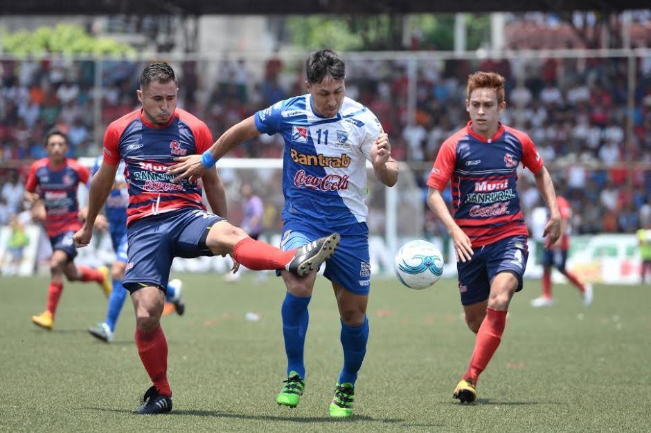 Los jugadores de Suchi dieron un gran partido frente a Malacateco. (Foto: Nuestro Diario)