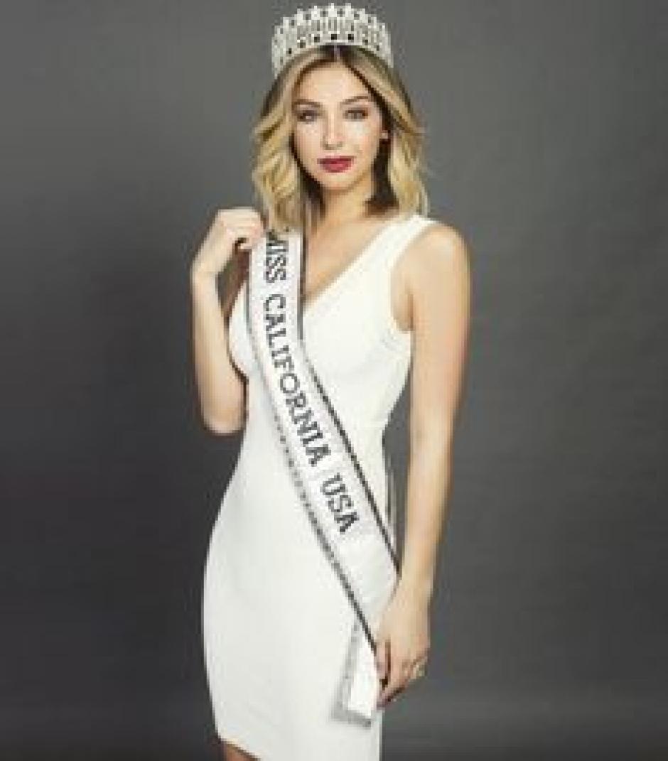 Ella es Nadia Mejía, Miss California. (Foto: Twitter)