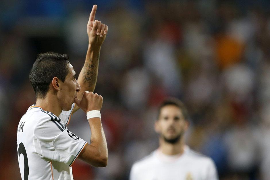 Ángel Di María anotó un doblete ante el Copenhage.