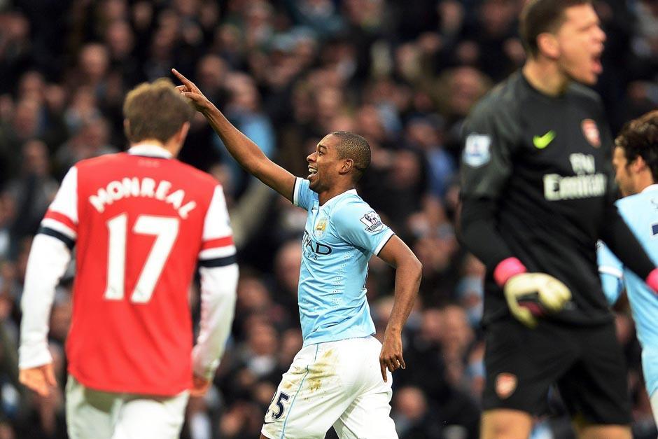 Fenandinho fue el anotador del 3-1 sobre el Arsenal en casa ajena. (Foto: Peter Powell/EFE)