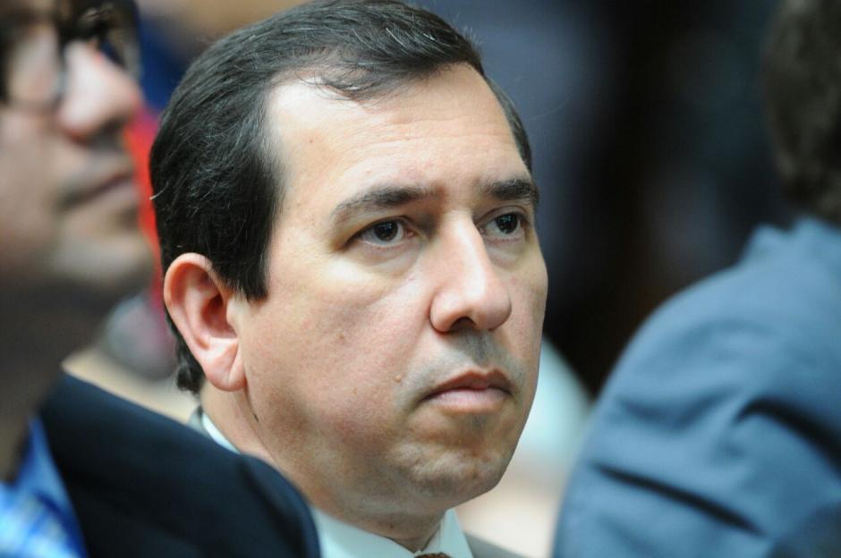 El sindicado Julio Aldana durante la jornada 11 de la audiencia de primera declaración.  (Foto: Alejandro Balán/Soy502)