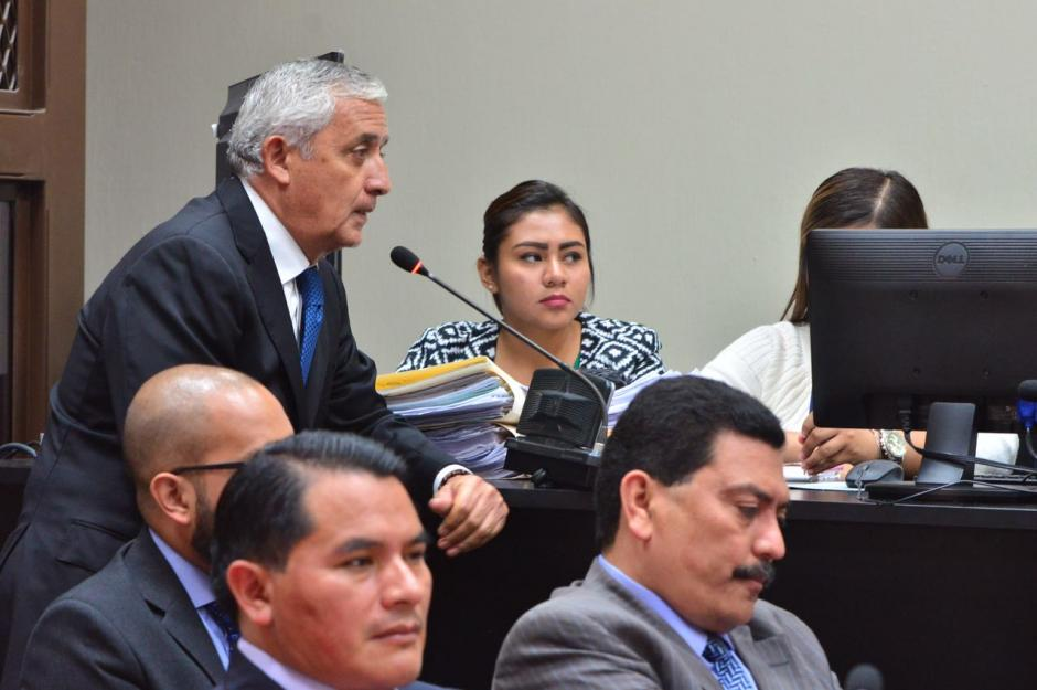 Otto Pérez Molina solicitó que la audiencia fuera suspendida. (Foto: Jesús Alfonso/Soy502)