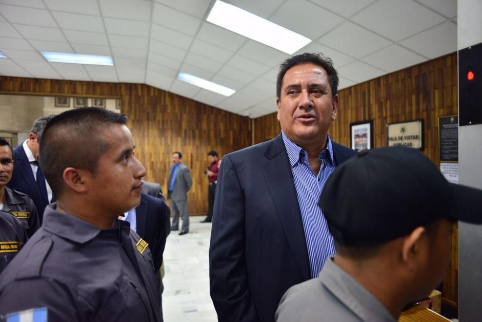 Gustavo Alejos llega a Tribunales para la continuación de la audiencia. (Foto: Jesús Alfonso/Soy502)