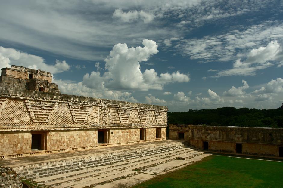 Una de las construcciones en la zona arqueológica de Uxmal en Yucatán, México. (Foto: Flickr/antoine.pardigon)