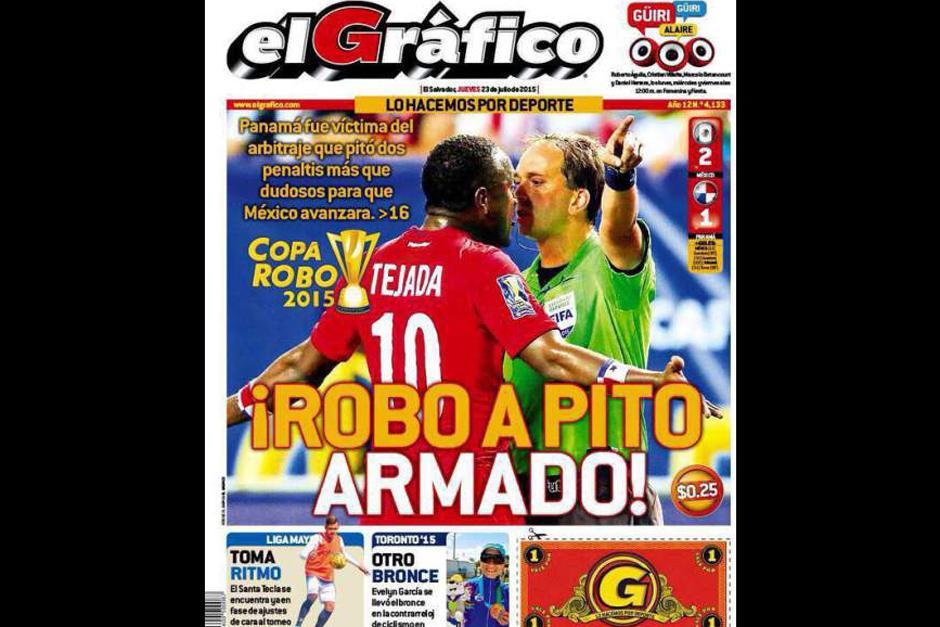 """""""El Gráfico"""" de El Salvador. (Foto: diez.hn)"""