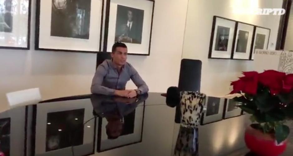 Según Cristiano Ronaldo, regularmente come en su casa. (Imagen: Captura de pantalla Twitter)
