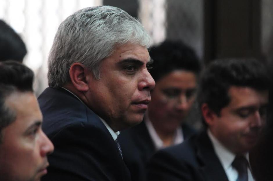 Frank Trujillo, representante legal de Aceros de Guatemala, durante la audiencia de primera declaración del caso conocido como la Línea 2. (Foto: Alejandro Balán/ Soy502)