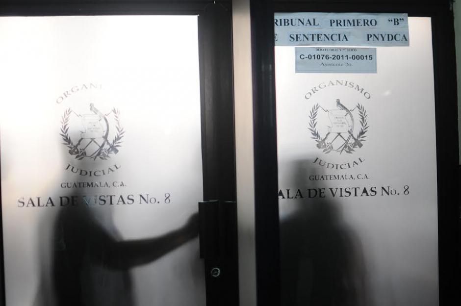 """El Tribunal de Mayor Riesgo """"B"""" permitió que observadores se quedaran en la Sala. (Foto: Alejandro Balán/ Soy502)"""
