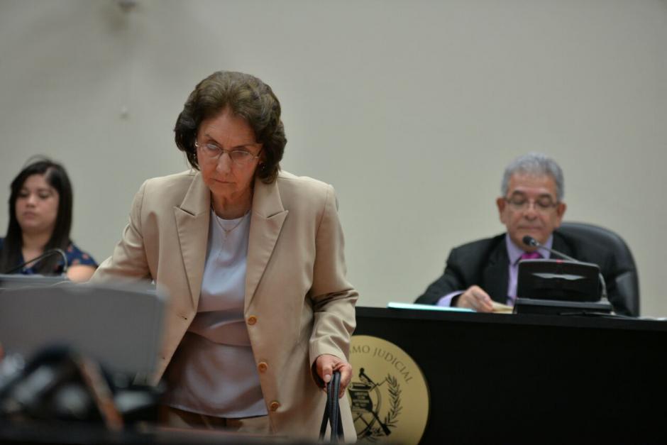 La expresidenta de la CSJ, Beatriz Ofelia de León, es la estratega de la defensa de su hijo. (Foto: Wilder López/Soy502)