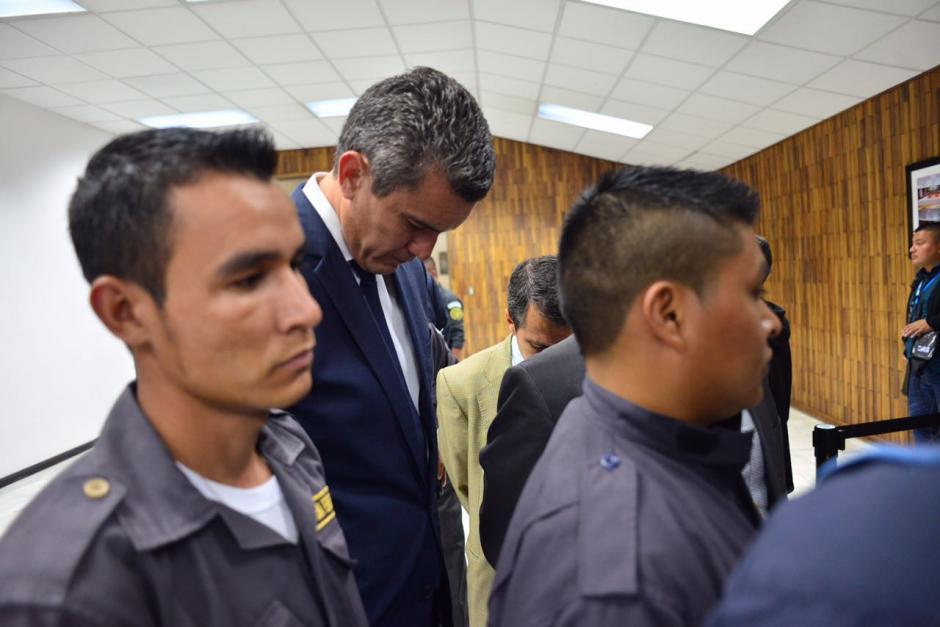 Los sindicados llegaron a la Sala de Vistas de la CSJ a primera hora de este martes. (Foto: Jesús Alfonso/Soy502)