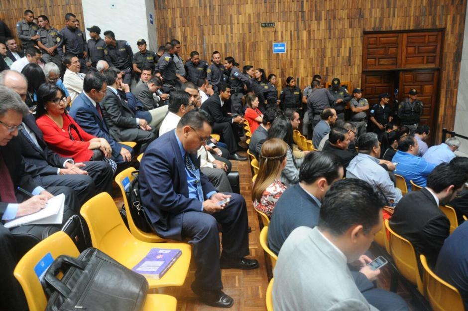 Las audiencias se realizan en la Sala de Vistas de la Corte Suprema de Justicia.  (Foto: Alejandro Balán/Soy502)
