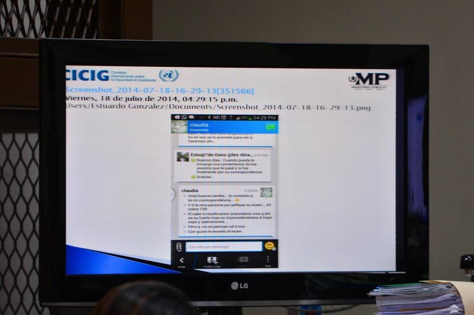 """Durante la declaración de """"Eco"""" fueron presentadas las conversaciones que él y Méndez sostenían vía mensaje. (Foto: Wilder López/Soy502)"""