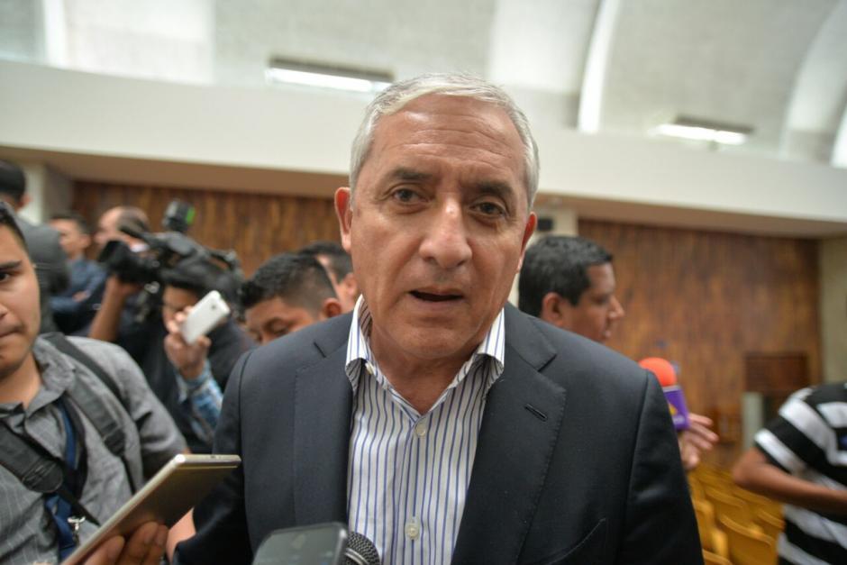 El expresidente Otto Pérez Molina trató de desacreditar a Jair Samayoa y el análisis que realizó el juez Gálvez. (Foto: Wilder López/Soy502)
