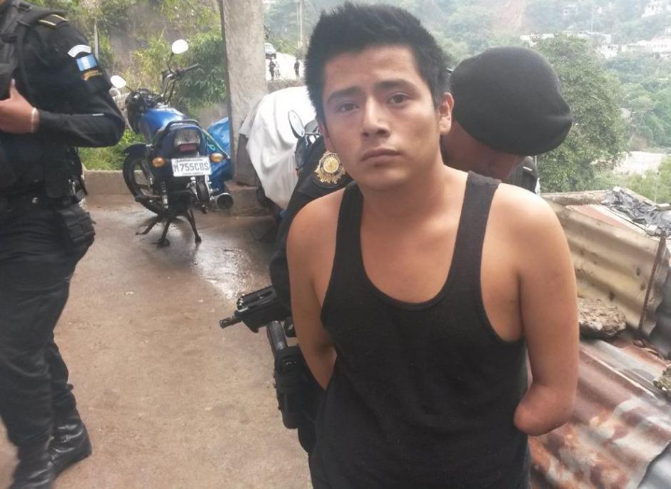 Las autoridades aprehendieron a Kevin Daniel Arizandiera Sierra de 20 años. (Foto: PNC)