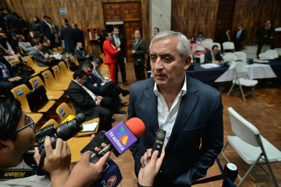 Otto Pérez dijo que Lima no era un Santo pero era buena persona. (Foto: Wilder López/soy502)