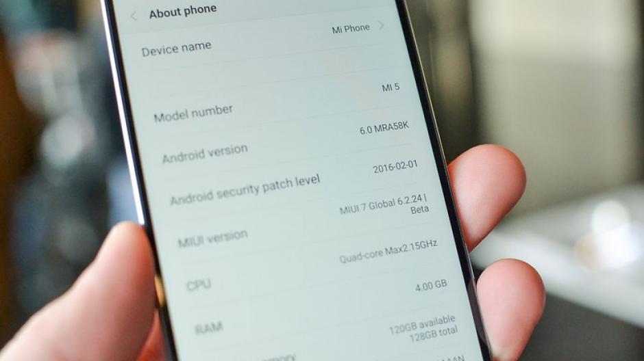 El sistema operativo del Mi5 es Android Marshmallow. (imagen: androidpit.es)