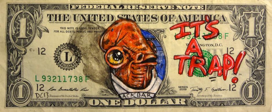 Gial Ackbar, el alienígena mon calamari, del planeta del mismo nombre. . (Foto: artes9.com)