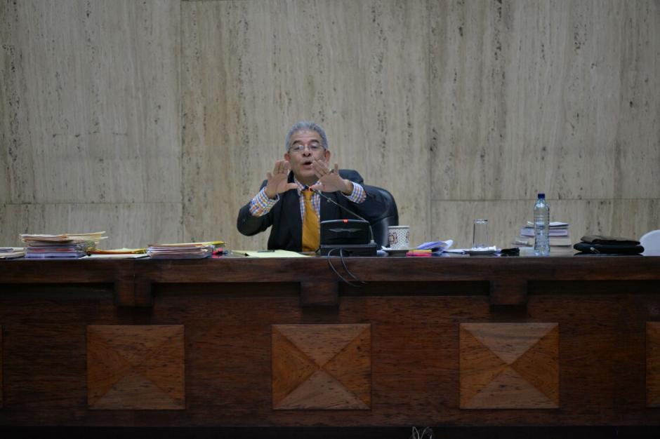 El juez anunció el traslado de los 18 sindicados hacia la cárcel de Matamoros. (Foto: Wilder López/Soy502)