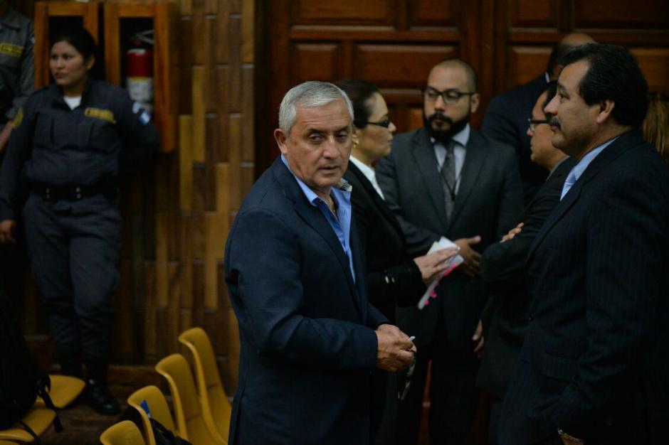 El expresidente Otto Pérez Molina podría declarar durante el séptimo día de audiencia. (Foto: Wilder López/Soy502)