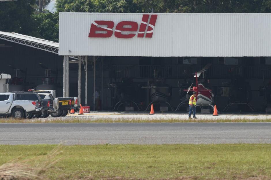 Vista del hangar donde el MP realizó un allanamiento relacionado a la investigación contra Sinibaldi. (Foto: Alejandro Balán/Soy502)