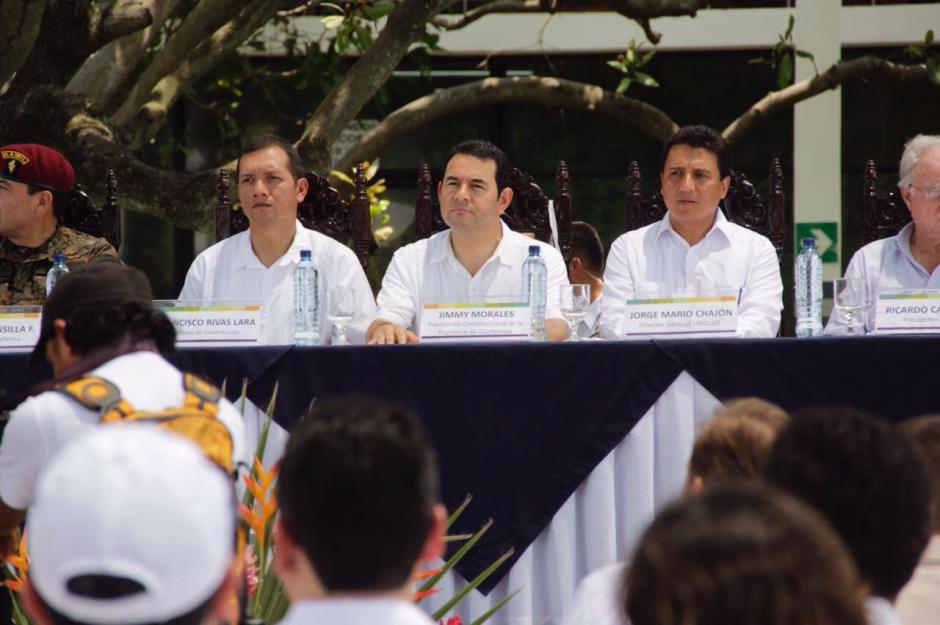 El presidente Morales resaltó que este proyecto beneficiará a la región. (Foto: Fredy Hernández/Soy502)