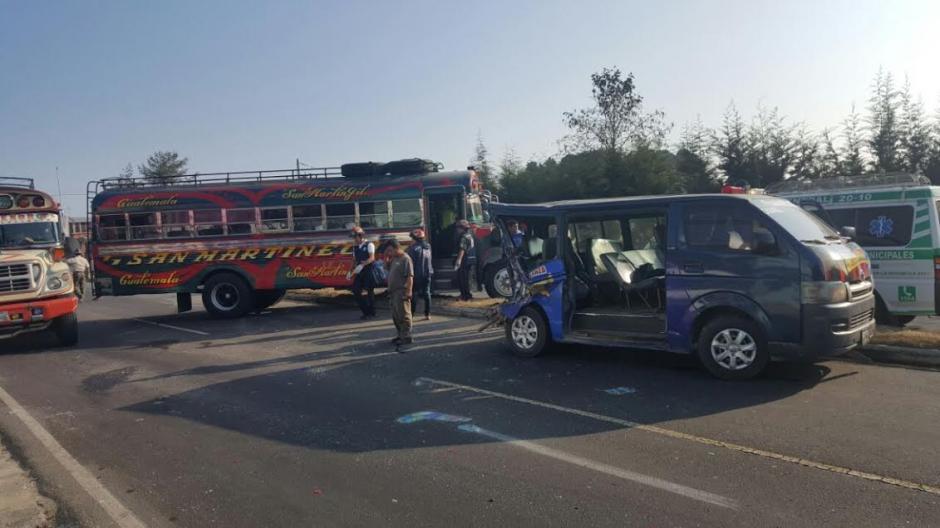 Un accidente de tránsito se registró en el kilómetro 31 de la ruta Interamericana. (Foto: Bomberos Municipales Departamentales)
