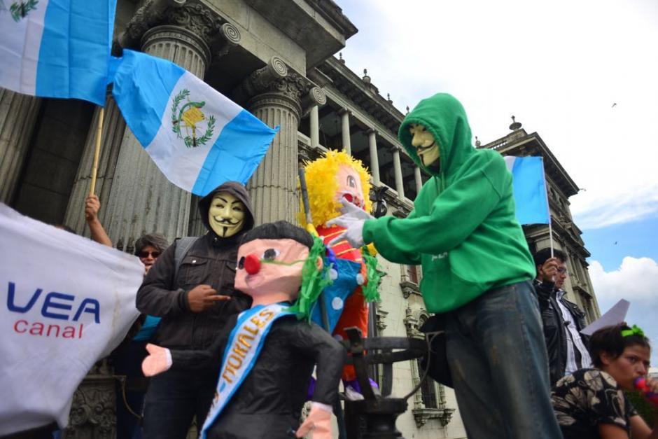 La concentración en la Plaza se desarrolló sin ningún incidente. (Foto: Jesús Alfonso/Soy502)