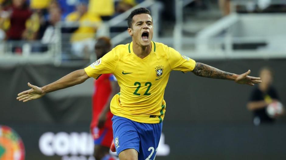 Coutinho marcó el un golazo para Brasil que se adelanta sobre Argentina. (Foto: Archivo)