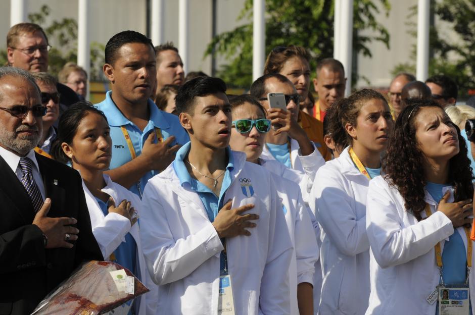 El himno de Guatemala se escuchó por primera vez en Toronto 2015. (Foto: Soy502)