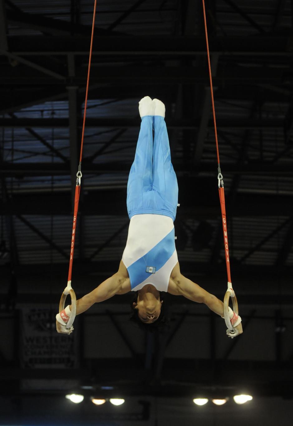 Jorge Vega, en la rutina de anillas, en los Juegos Panamericanos.(Foto: Alvaro Yool/ Nuestro Diario)