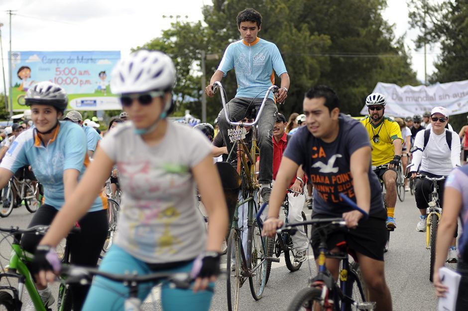 Día sin autos en Guatemala