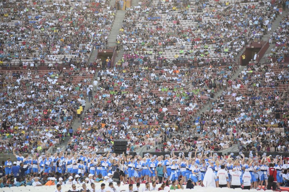El evento empezó en la tarde y finalizó en la noche tras diversas actividades programadas en la apertura de las Olimpiadas Especiales.(Foto Giovanni Bautista/Soy502)