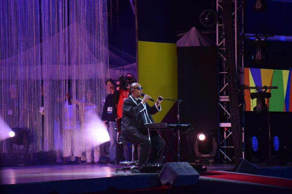 Stevie Wonder fue una de las estrellas más esperadas de la apertura.(Foto Giovanni Bautista/Soy502)