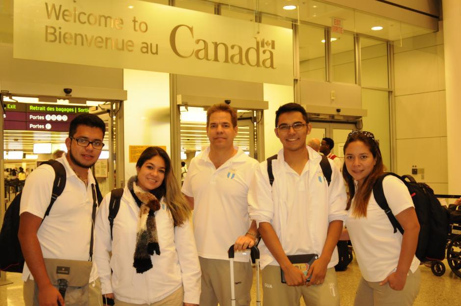 Entre las delegaciones que arribaron el martes a Toronto está parte del equipo de tiro.(Pedro Pablo Mijangos/Soy502)