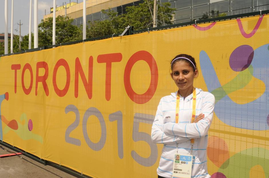 Mirna (sin uniforme nuevo aún) recordó sus primeros Panamericanos, en 2011, cuando fue subcampeona.(Foto: Pedro Pablo Mijangos/Soy502)