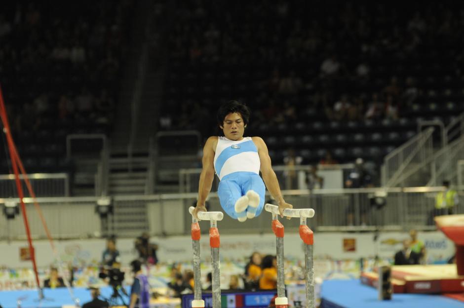 Jorge Vega y su gran presentación en la gimnasia artística de los Juegos Panamericanos. (Foto: Pedro Pablo Mijangos/Soy502)