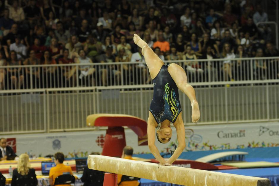Ana Sofía Gómez obtuvo oro en viga de equilibrio durante los Panamericanos de Guadalajara 2011. (Foto: Pedro Mijangos/Soy502)