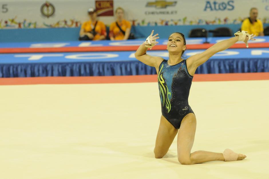 Sofi durante su presentación en piso. (Foto: Pedro Mijangos/Soy502)