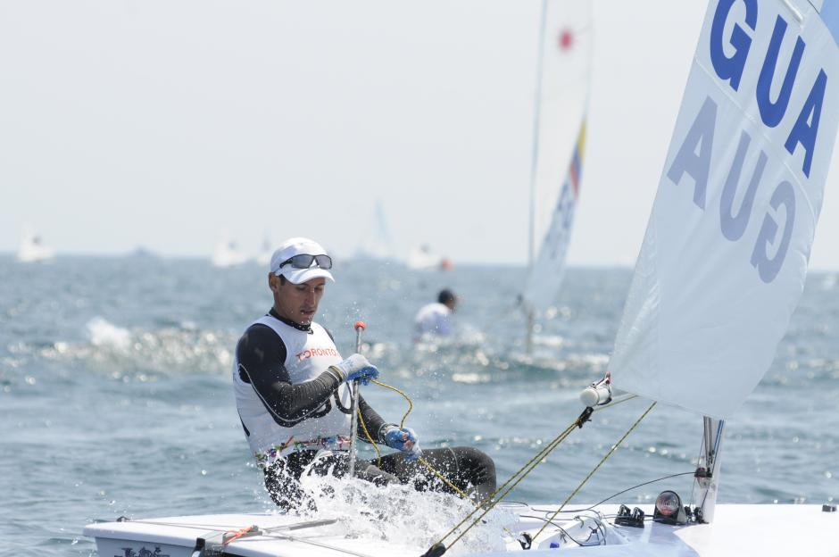 Juan Ignacio Maegli va en cuarta posición después de tres regatas. (Pedro Pablo Mijangos/Soy502)