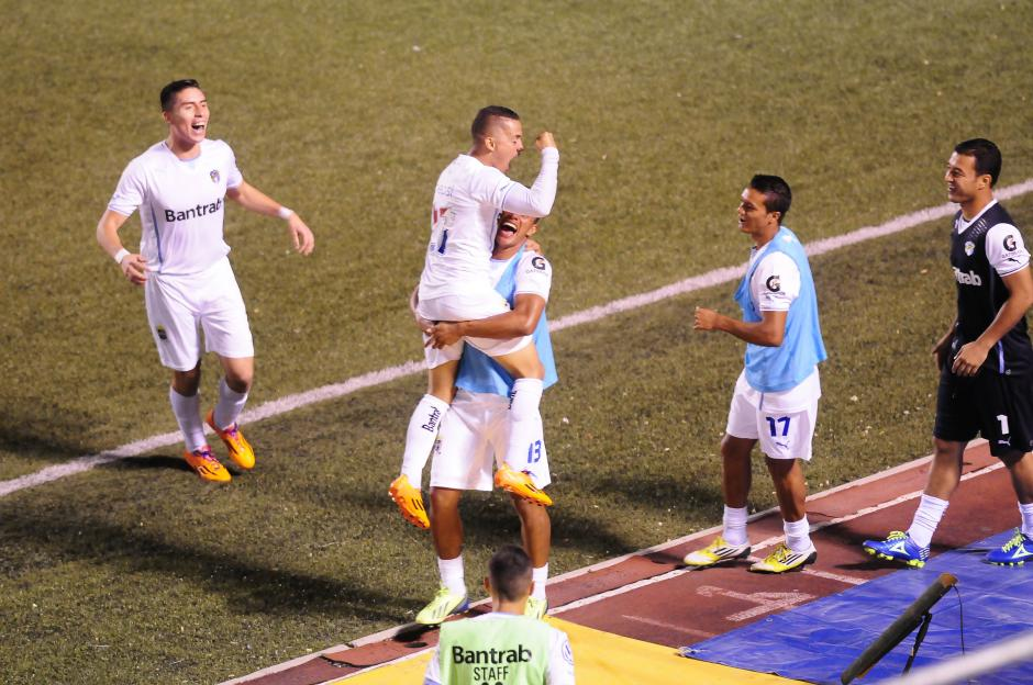 Marvin Ceballos anotó el gol de Comunicaciones en el empate a uno ante Marquense. (Foto: Nuestro Diario)