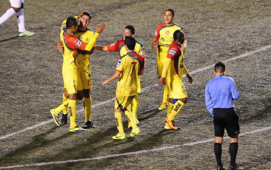 Joaquín Álvarez anotó el gol que sirvió para que Marquense se llevara un punto del Cementos Progreso. (Foto: Nuestro Diario)
