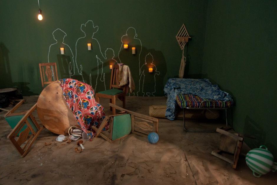 El Conflicto Armado Interno es parte de un ambiente del museo, donde se recrea el secuestro de una familia campesina. (Foto: Jesús Alfonso/Soy502)