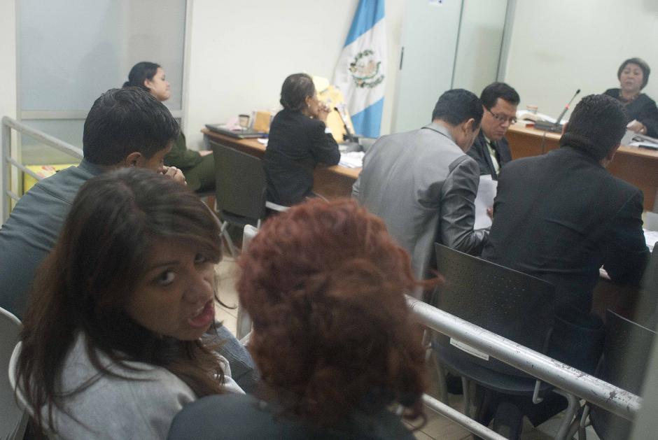 Geraldine Yvette del Cidse mostró segura y tranquila durante toda la audiencia, incluso para posar ante las cámaras. (Foto: Jesús Alfonso/Soy502)